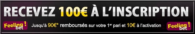 Feelingbet, 100€ offerts à l'inscription