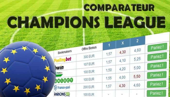 Comparateur Champions league