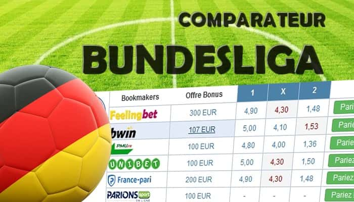 Comparateur de cote Bundesliga
