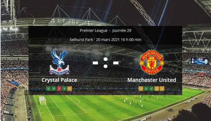 Pronostic Crystal Palace Manchester United