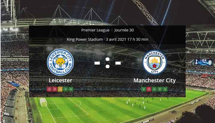 Pronostic Leicester Manchester City
