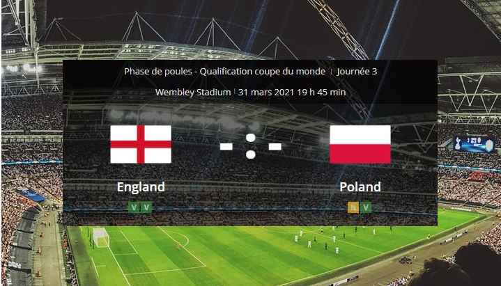 Pronostic Angleterre Pologne