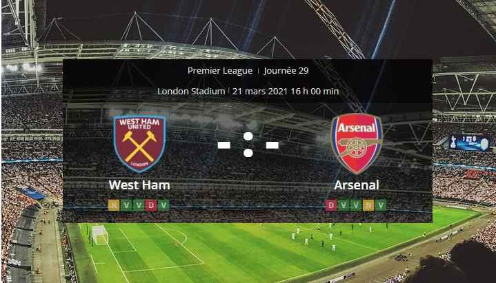 Pronostic West Ham Arsenal
