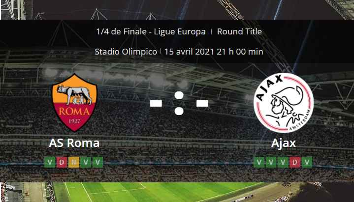 Pronostic AS Rome Ajax Amsterdam